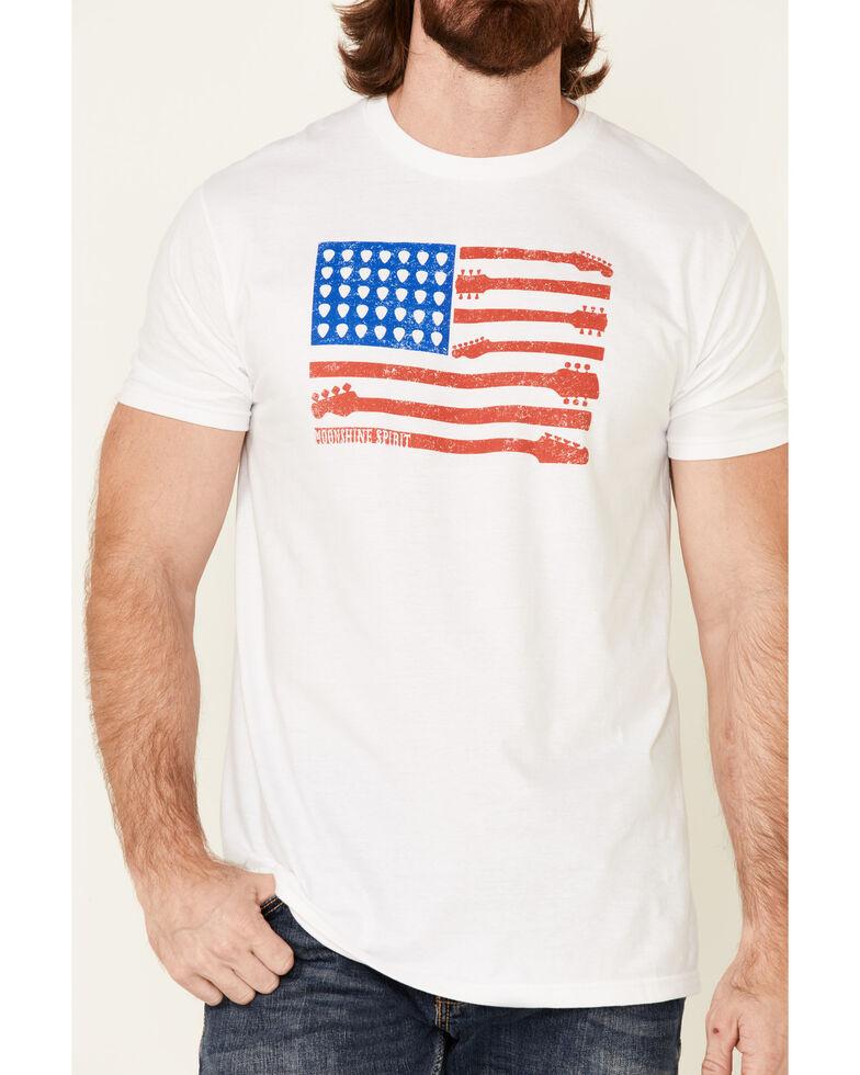 Moonshine Spirit Men's Guitar Flag Graphic Short Sleeve T-Shirt , White, hi-res