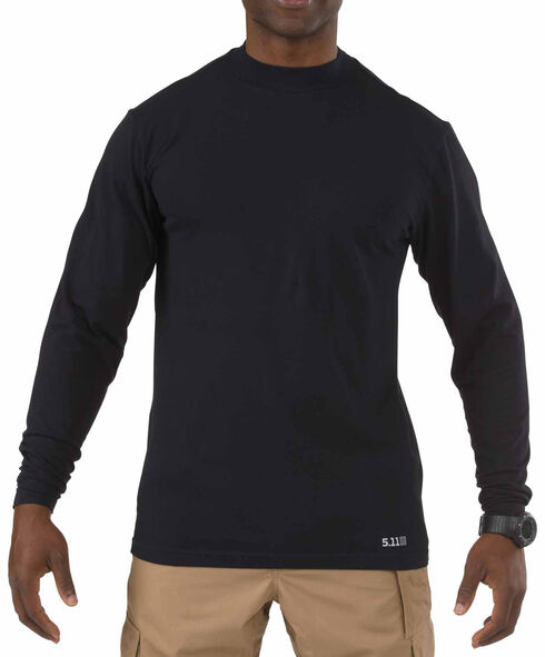5.11 Tactical Men's Cotton Winter Mock, Midnight, hi-res