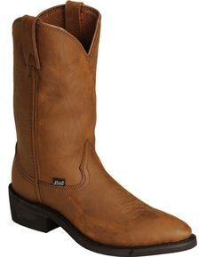 Justin Men's Butch Farm & Ranch Cowboy Work Boots - Medium Toe, Distressed, hi-res