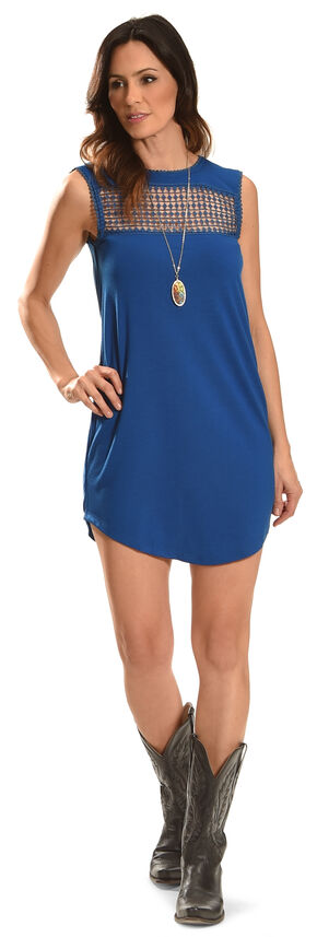 Angel Ranch Women's Blue Picnic Dress , Blue, hi-res