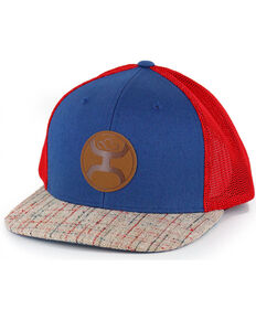 HOOey Men's Tweed Snapback Logo Ball Cap, Blue/red, hi-res