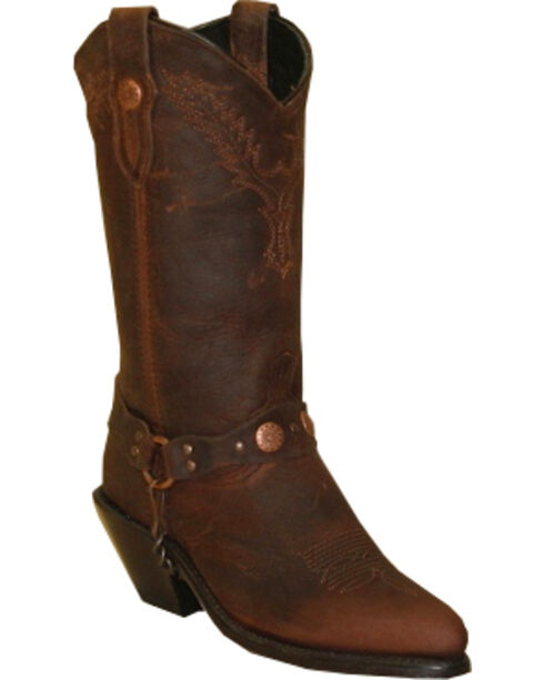Sage by Abilene Boots Women's Distressed Harness Boots, Brown, hi-res