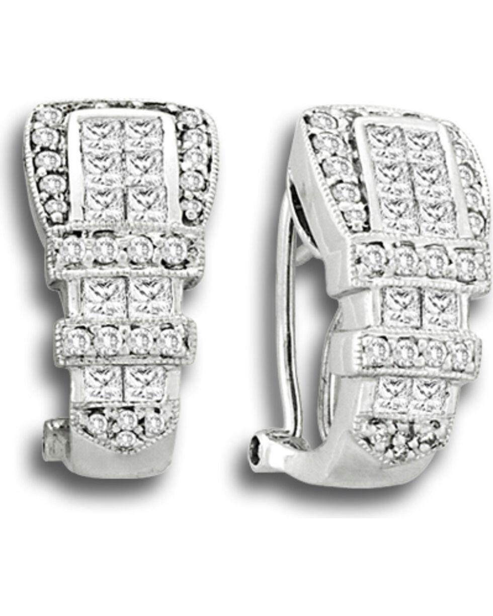 Kelly Herd Women's Ranger Style Buckle Earrings, Silver, hi-res