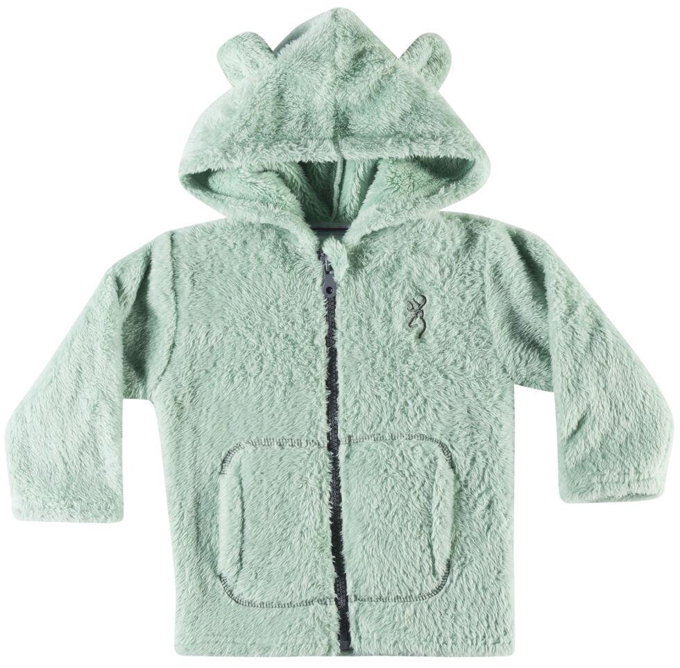 Browning Infant Girls' Green Teddy Bear Jacket , Green, hi-res