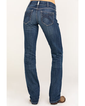 Ariat Men's R.E.A.L. Dresden Willow 3D Mid Straight Jeans , Blue, hi-res