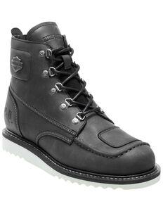 Harley Davidson Men's Hagerman Moto Boots - Round Toe, Black, hi-res