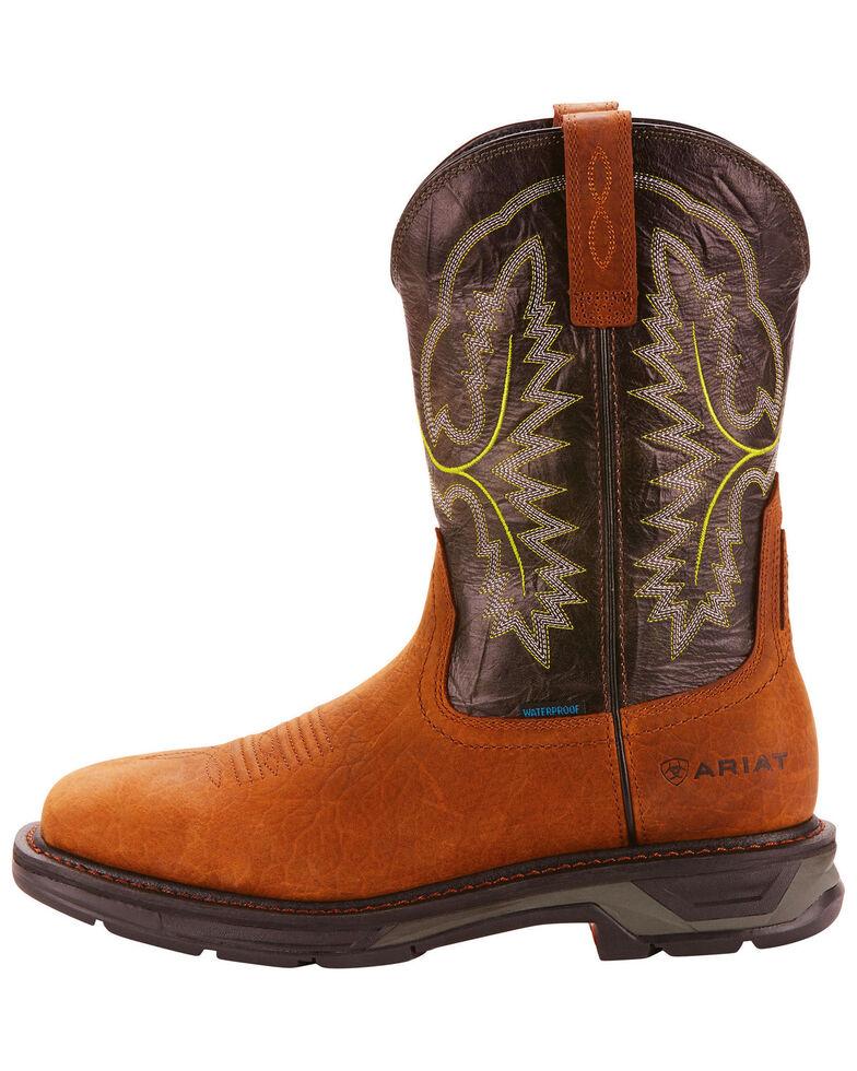 Ariat Men's Brown Workhog XT H20 Boots - Wide Square Toe, Dark Brown, hi-res