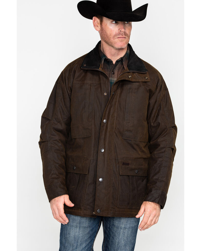 Outback Trading Co. Deer Hunter Oilskin Jacket, Bronze, hi-res
