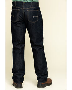 Ariat Men's M4 Rebar Durastretch Flannel Lined Low Bootcut Work Jeans - Big , Blue, hi-res