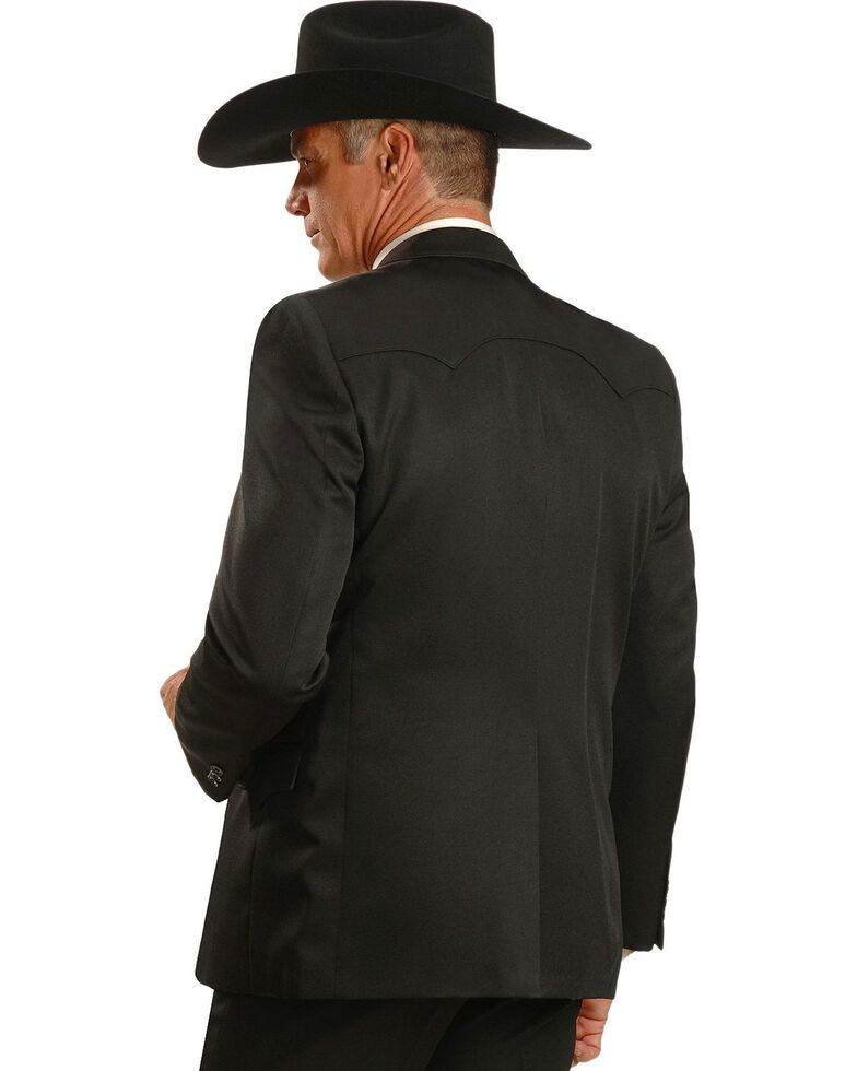 Circle S Lubbock Suit Coat - Big and Tall, Black, hi-res