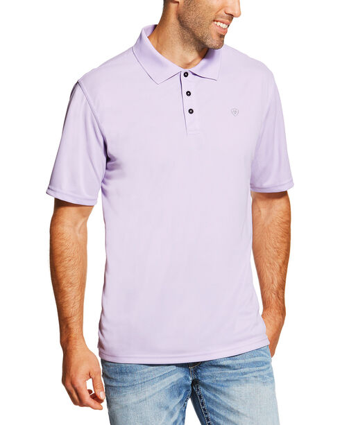 Ariat Men's Lavender Seychelles Heat Series Tek Polo Shirt , Lavender, hi-res