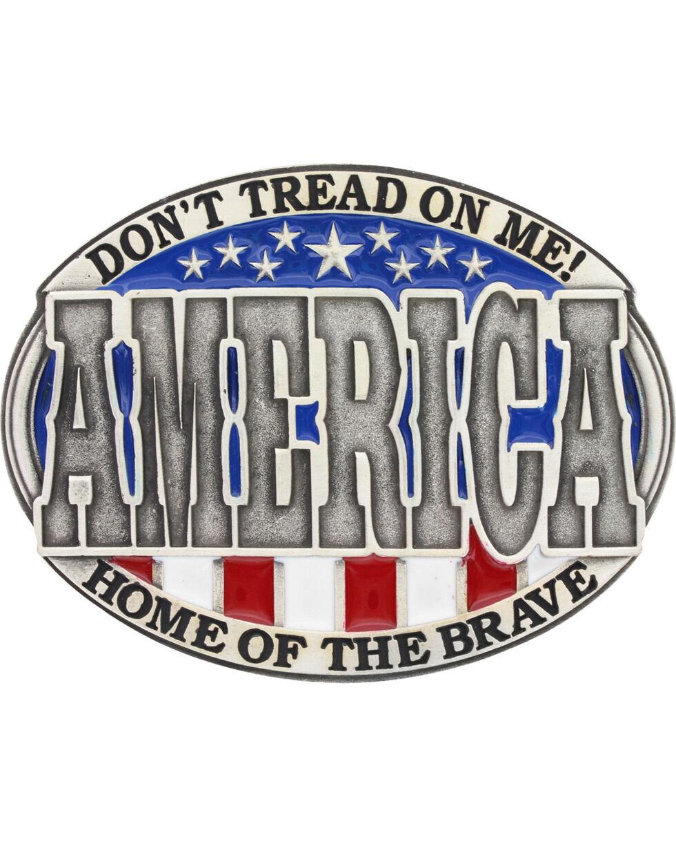 Montana Silversmith's Men's Patriotic America Belt Buckle , Silver, hi-res