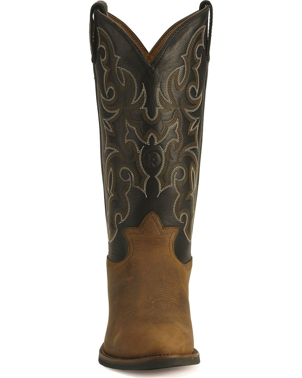 Tony Lama 3R Cowboy Boots - Medium Toe, Walnut, hi-res