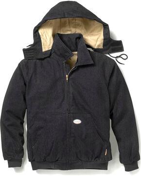 Rasco Men's Black Flame Resistant Hooded Jacket - Tall , Black, hi-res