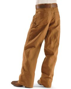 Carhartt Boys' Duck Dungaree Khaki Pants - 8-16, Brown, hi-res