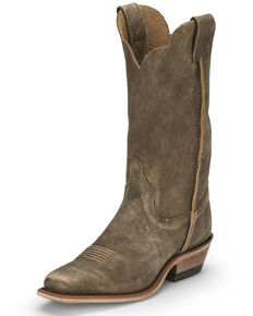Justin Women's Bamboo Kamikaze Western Boots - Wide Square Toe, Brown, hi-res
