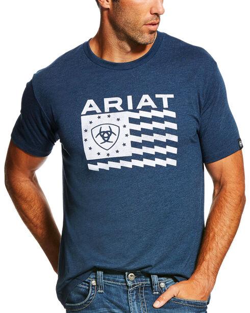 Ariat Men's Navy Old Glory Short Sleeve Tee , Navy, hi-res