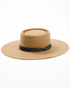 Shyanne Women's 2X Pecan Telescope Wide Brim Wool Felt Western Hat , Pecan, hi-res