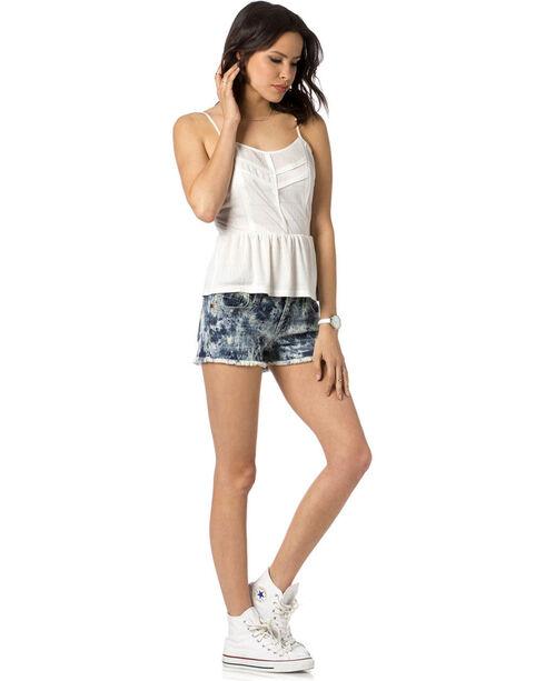 Miss Me Women's Indigo Do Or Dye Mid-Rise Shorts , Indigo, hi-res