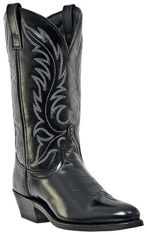Laredo Classic Western Cowgirl Boots - Round Toe, Black, hi-res
