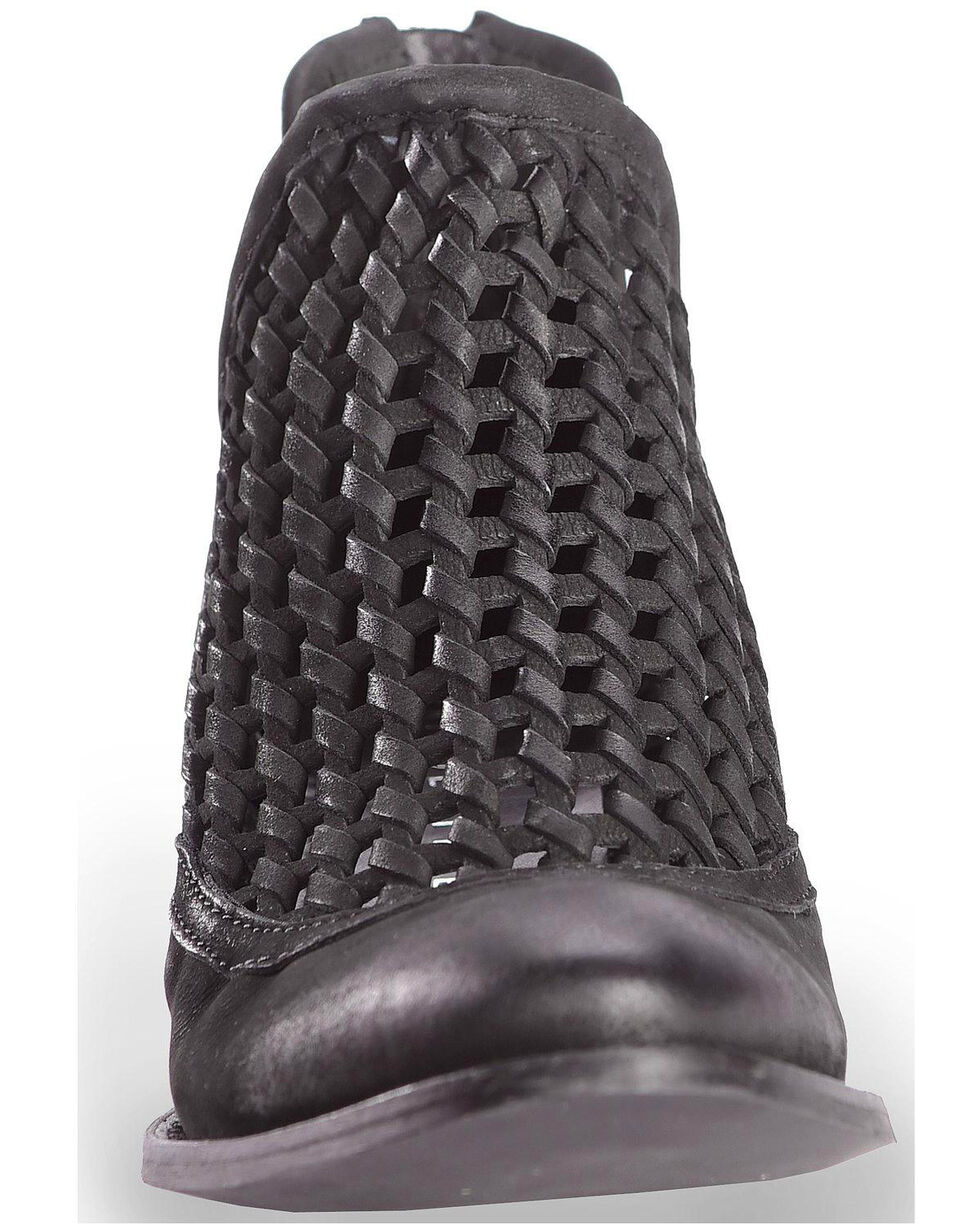 Very Volatile Women's Hudsun Black Woven Booties, Black, hi-res
