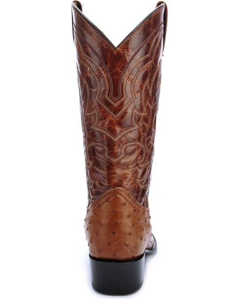 Circle G Full Quill Ostrich Cowboy Boots - Round Toe , Cognac, hi-res