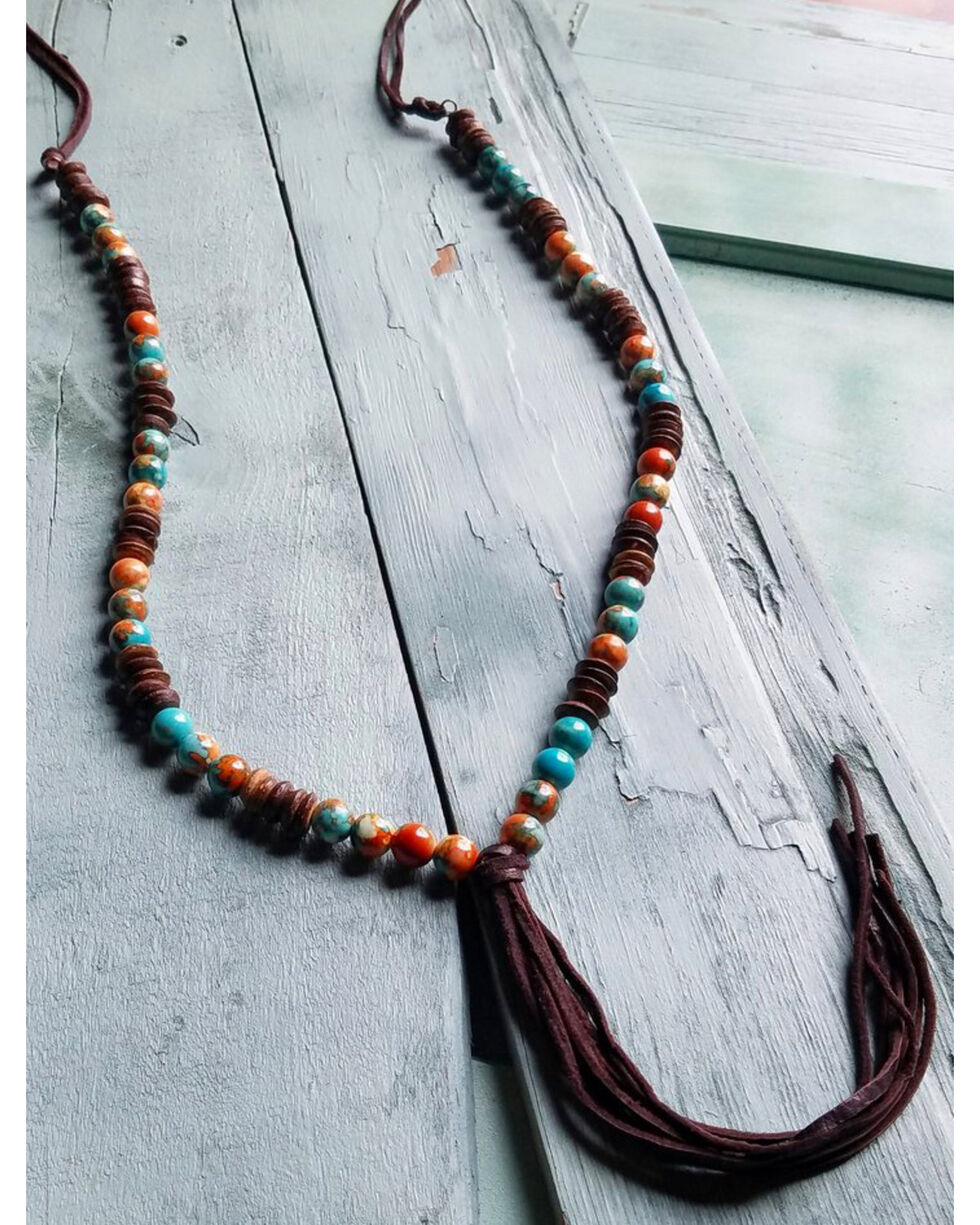Jewelry Junkie Women's Multi-Colored Turquoise Necklace , Multi, hi-res