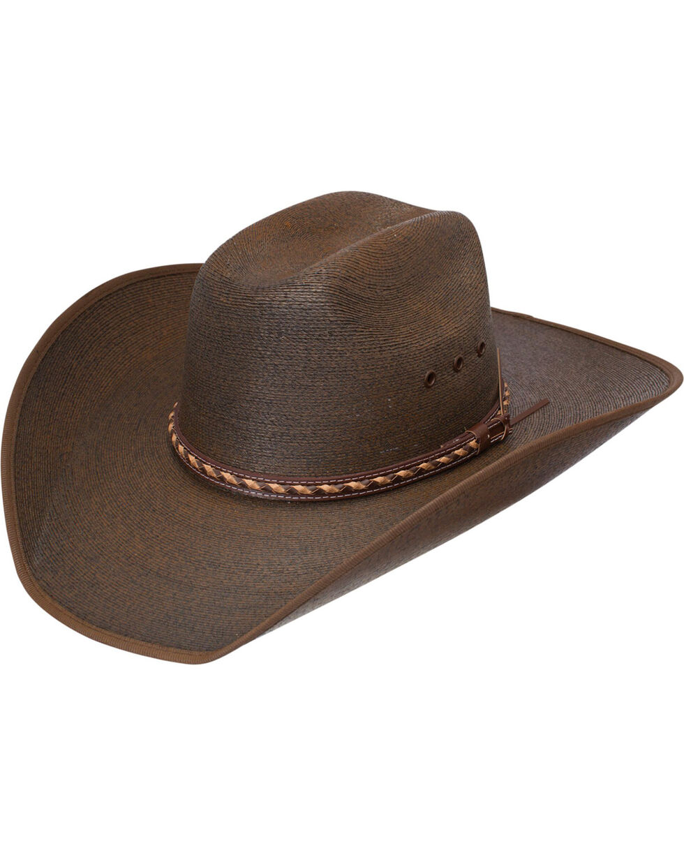 Jason Aldean Wheels Rollin' Palm Leaf Cowboy Hat , Chocolate, hi-res