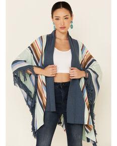 Tasha Polizzi Women's Topaz Ventura Serape Kimono Cardigan , Blue, hi-res