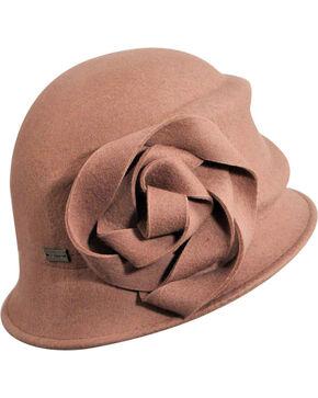 Betmar Women's Alexandrite Rose Wool Felt Cloche Hat, Blush, hi-res