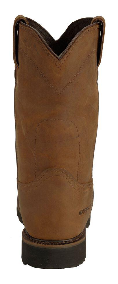Justin Men's Drywall Waterproof Pull-On Work Boots - Steel Toe, Brown, hi-res