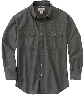 Carhartt Fort Long Sleeve Work Shirt - Big & Tall, Black, hi-res