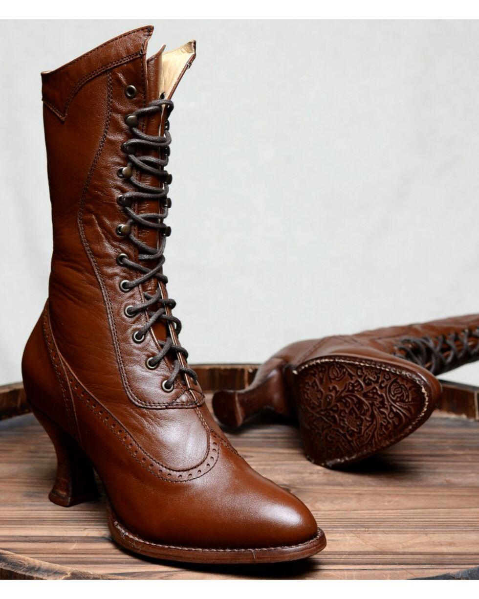 Oak Tree Farms Jasmine Cognac Boots - Medium Toe, Cognac, hi-res