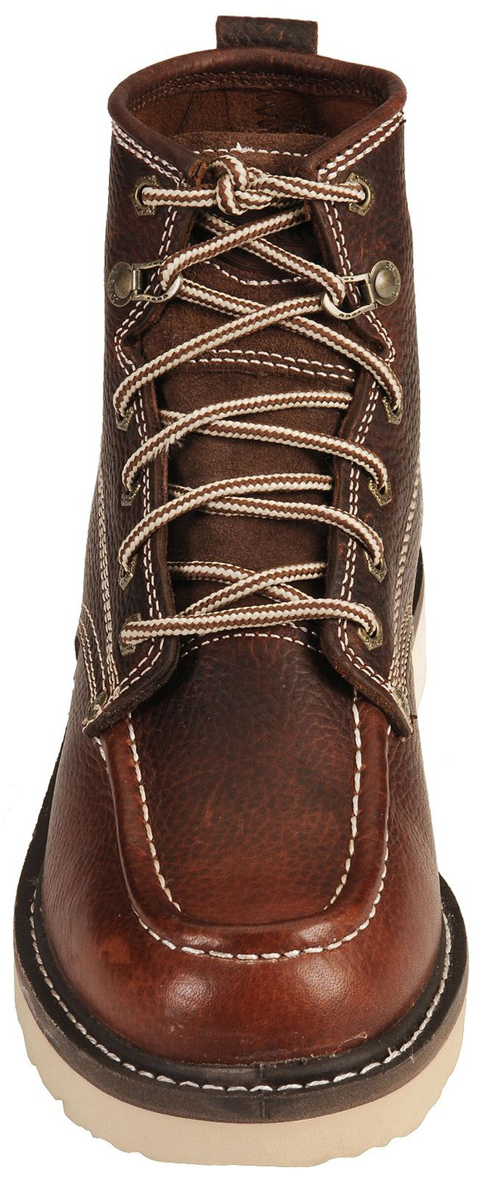 "Dickies Trader 6"" Lace-Up Work Boots - Round Toe, Red Oak, hi-res"