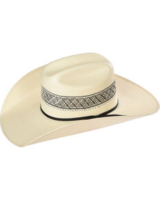 Resistol Men's Natural Border Straw Cowboy Hat , Natural, hi-res