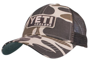 YETI Coolers Men's Camo Patch Logo Trucker Cap, Camouflage, hi-res