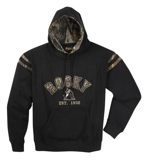 Rocky Men's Camo Hoodie Sweatshirt, Black, hi-res
