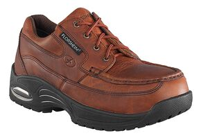 Florsheim Men's Polaris Lace-Up Oxford Shoes - Composite Toe , Brown, hi-res