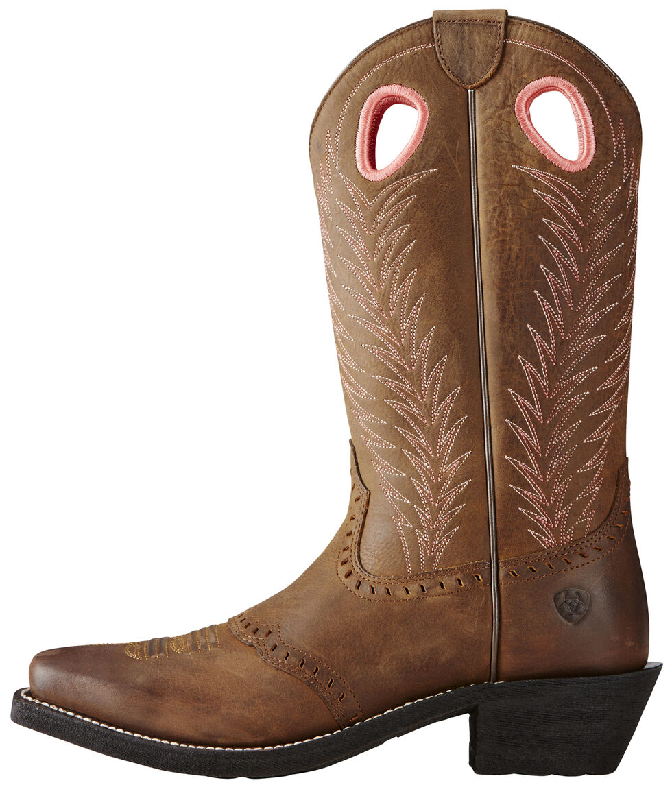 Ariat Women's Brown Heritage Rancher Boots - Square Toe, Brown, hi-res