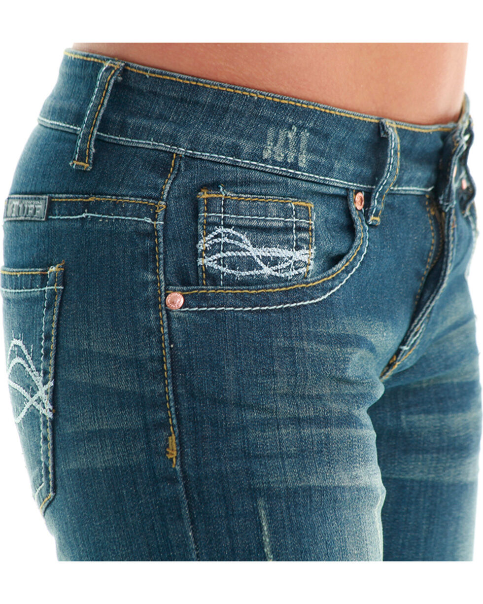 Cowgirl Tuff Women's Don't Fence Me In Jeans  , Indigo, hi-res
