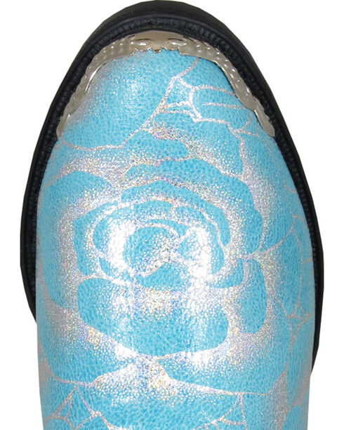 Smoky Mountain Girls' Lexie Western Boots - Round Toe , Turquoise, hi-res