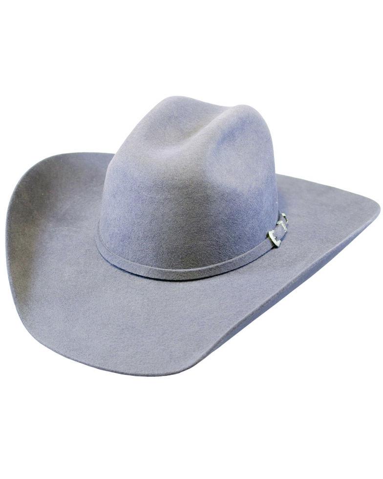 Justin Men's Smoke 3X Denton II Western Wool Felt Hat , Light Grey, hi-res