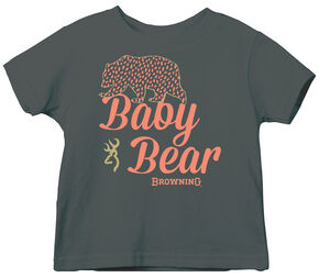 Browning Toddler Girls' Charcoal Grey Baby Bear Short Sleeve Tee , Charcoal Grey, hi-res