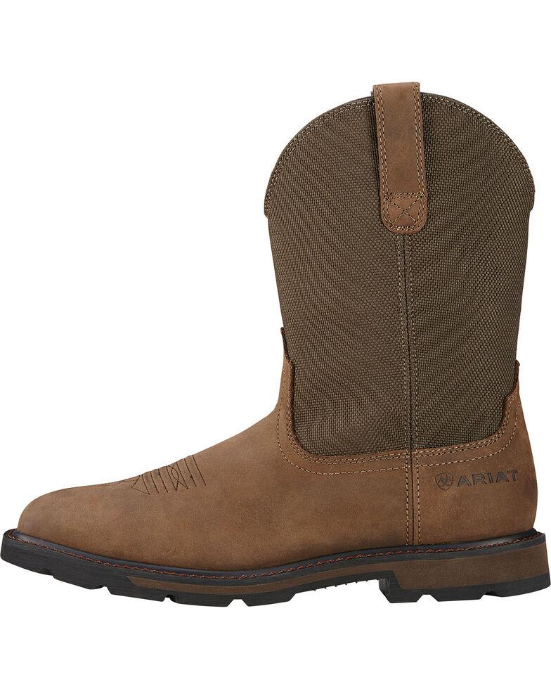 Ariat Men's Groundbreaker Western Work Boots - Square Toe, Brown, hi-res