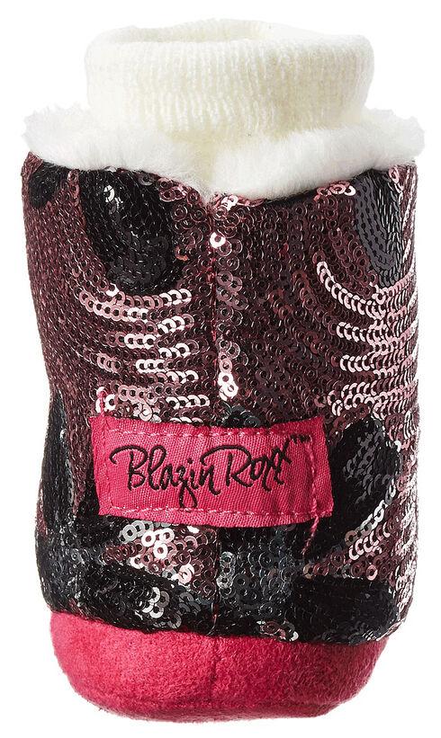 Blazin Roxx Infant Girls' Floral Sequin Fashion Slippers, Pink, hi-res