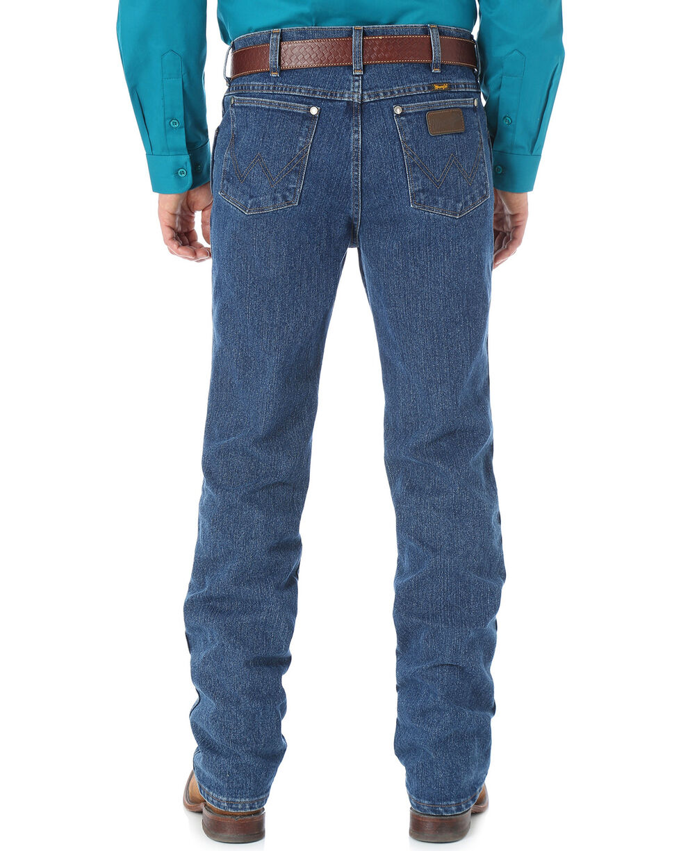 Wrangler Men's Premium Performance Cool Vantage Cowboy Cut Slim Fit Jeans - Big & Tall, Dark Stone, hi-res