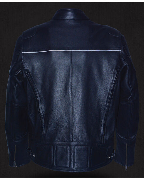 Milwaukee Leather Men's Heated Scooter Jacket - 4X, Black, hi-res
