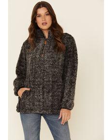 Katydid Women's Sherpa 1/2 Zip Pullover, Black, hi-res