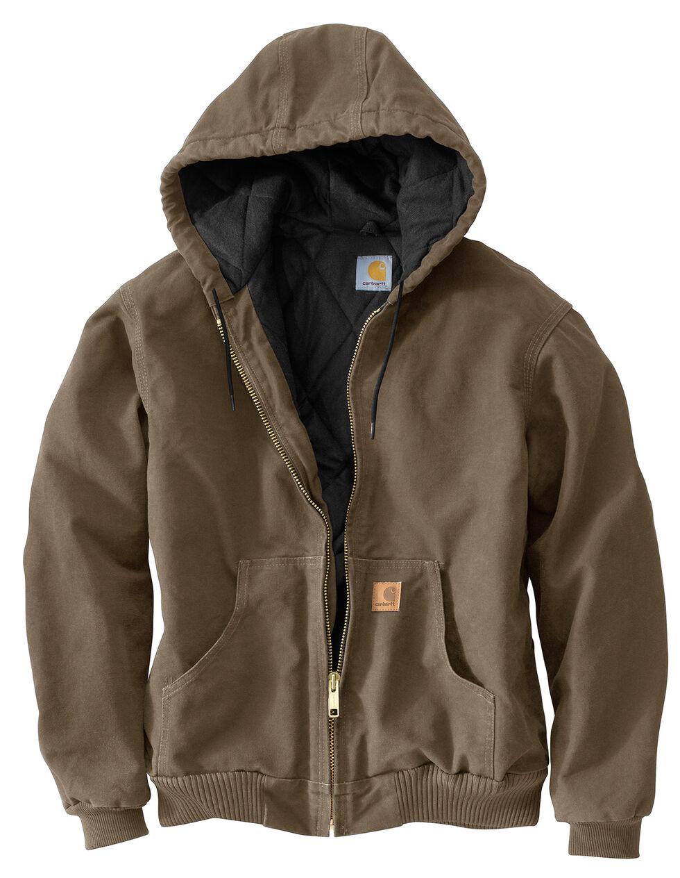 Carhartt Men's Sandstone Flannel Lined Active Jacket - Big & Tall, Light Brown, hi-res
