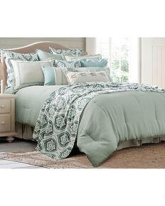 HiEnd Accents Green 4 Piece Belmont Comforter Set - Super Queen , Green, hi-res